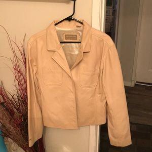 Woman's Tan Leather Short Jacket